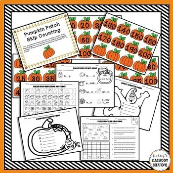 Halloween Math & Literacy Activities - 1st & 2nd Grade - 3 Take Home Books Too!