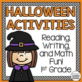 Halloween Math & Literacy Activities - Fun Printables for 1st Grade