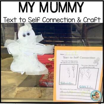 Halloween Activities Kindergarten and 1st Mummy Craft TEXT to SELF Display