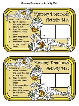 Halloween Activities: Mummy Halloween Dominoes Math Game Activity Packet