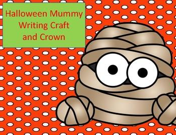 Halloween Activities:  Mummy Writing Craft and Crown