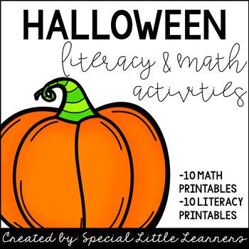 Halloween Activities: No Prep {Math & Literacy}