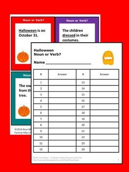 Noun or Verb Halloween