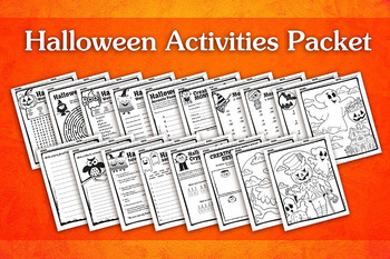 Halloween Activities Packet