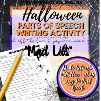 "Halloween Activities: Crossword Puzzle, Word Search, ""Mad Libs"""