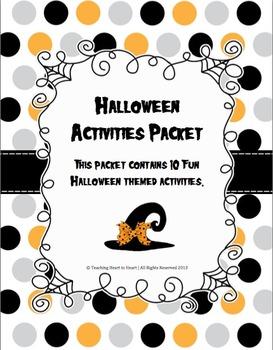 Halloween Activities Packet With 10 Activities