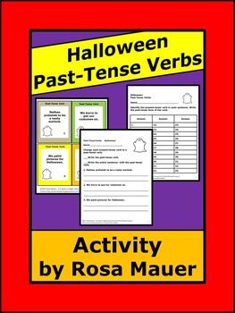 Halloween Activities Past-Tense Verbs