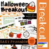 Halloween Activities: Printable Breakout or Escape Challenge