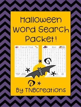 Halloween Word Search Packet