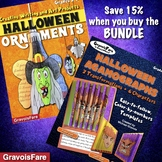 Halloween Activities & Projects BUNDLE: Agamographs and Ornaments - Save 15%