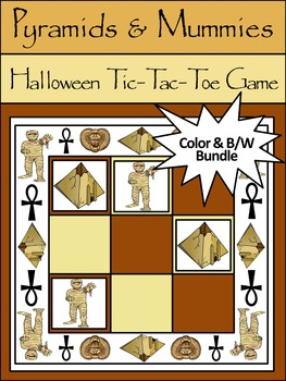 Halloween Activities: Pyramids & Mummies Halloween Tic-Tac