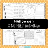 Halloween ELA Activities - Halloween Literacy Centers - Halloween No Prep