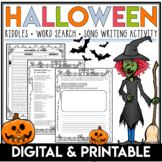 Halloween Puzzles | Halloween Word Search | Monster Mash Song Activity