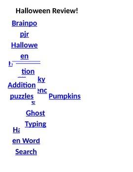 Halloween Activities Say What?