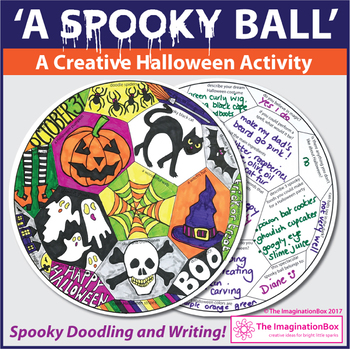 Halloween Coloring Pages - Spooky Art and Writing Activity