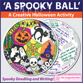 Halloween Coloring Pages | Spooky  Ball Art and Writing Activity