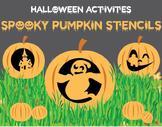 Halloween Activities - Spooky Pumpkin Stencils