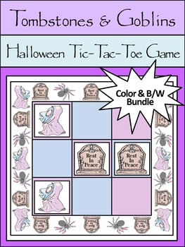 Halloween Activities: Tombstones & Goblins Halloween Tic-Tac-Toe Game