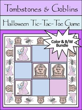 Halloween Activities: Tombstones & Goblins Halloween Tic-T