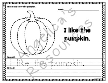 Halloween Activities: Tracing Sight Words, Sentences, and Images - Handwriting