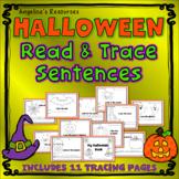 Halloween Activities: Simple Sentence Tracing, Sight Words, Fine Motor Skills