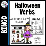 Halloween Bingo Cards (Verbs)