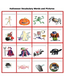Halloween: Vocabulary, Speaking and Writing (Beg - Int)