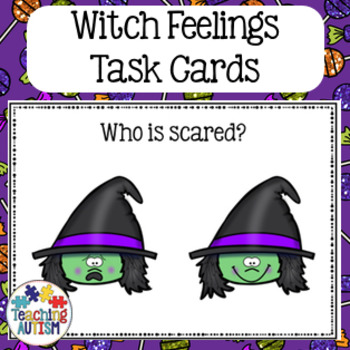 Feelings and Emotions Halloween Task Cards Witches