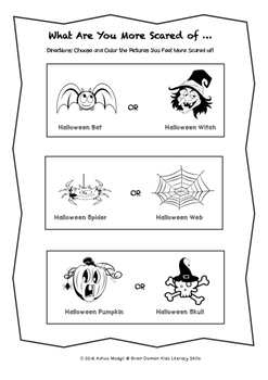 Halloween Activities:Write and Colour
