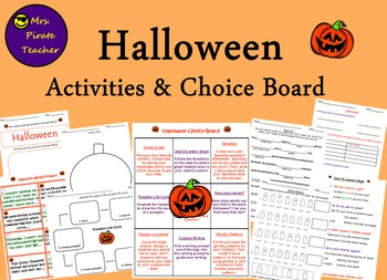 Halloween Activities and Choice Board