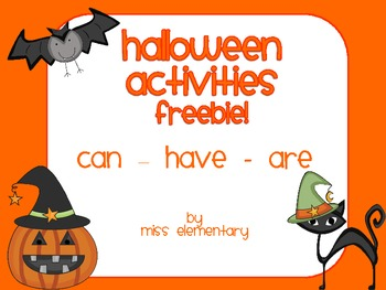 Halloween Activities - can - have - are (FREEBIE!)