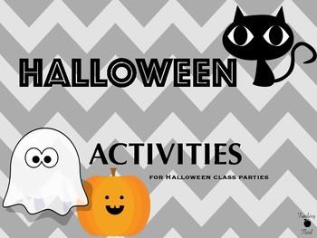 Halloween Activities for Halloween Class Parties