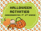 Halloween Activities for Kindergarten, 1st and 2nd Grade