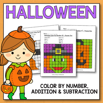 Halloween Color By Number - Halloween Math Worksheets