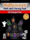 Halloween Activities for Kindergarten Math and Literacy No Prep Printables