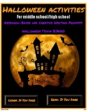 Halloween Activities for Middle/High School: Writing Promp