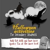 Halloween Activities for Secondary ELA