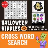 Halloween  Activities for Middle School - Crossword Puzzle
