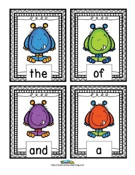 Monsters- A Fun Sight Word Bundle