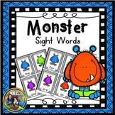 Halloween Activities: First Grade Monster Sight Words Game Bundle
