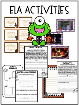 Halloween Activities for Writing, Math, and Reading! CCSS Aligned!