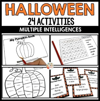 Halloween Activities for school - Multiple intelligences -