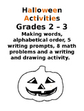 Halloween Activities grades 2 &3