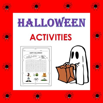 Halloween Vocabulary Activities in English:  (2nd to 6th)