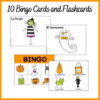 Spanish Halloween Bingo and Song (Mp3)