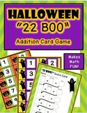 Halloween Activity - 22 BOO - Addition Card Game