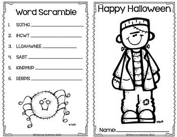 Halloween Activity Book Freebie!