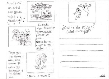 Halloween Activity Book (Spanish!)