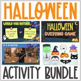 Halloween Activity Bundle   Virtual Halloween Activities