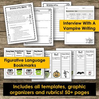 Halloween Activities - Writing, Poetry & Grammar